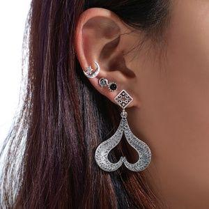 925 Silver-Plated Vintage Bohemian Earrings Set